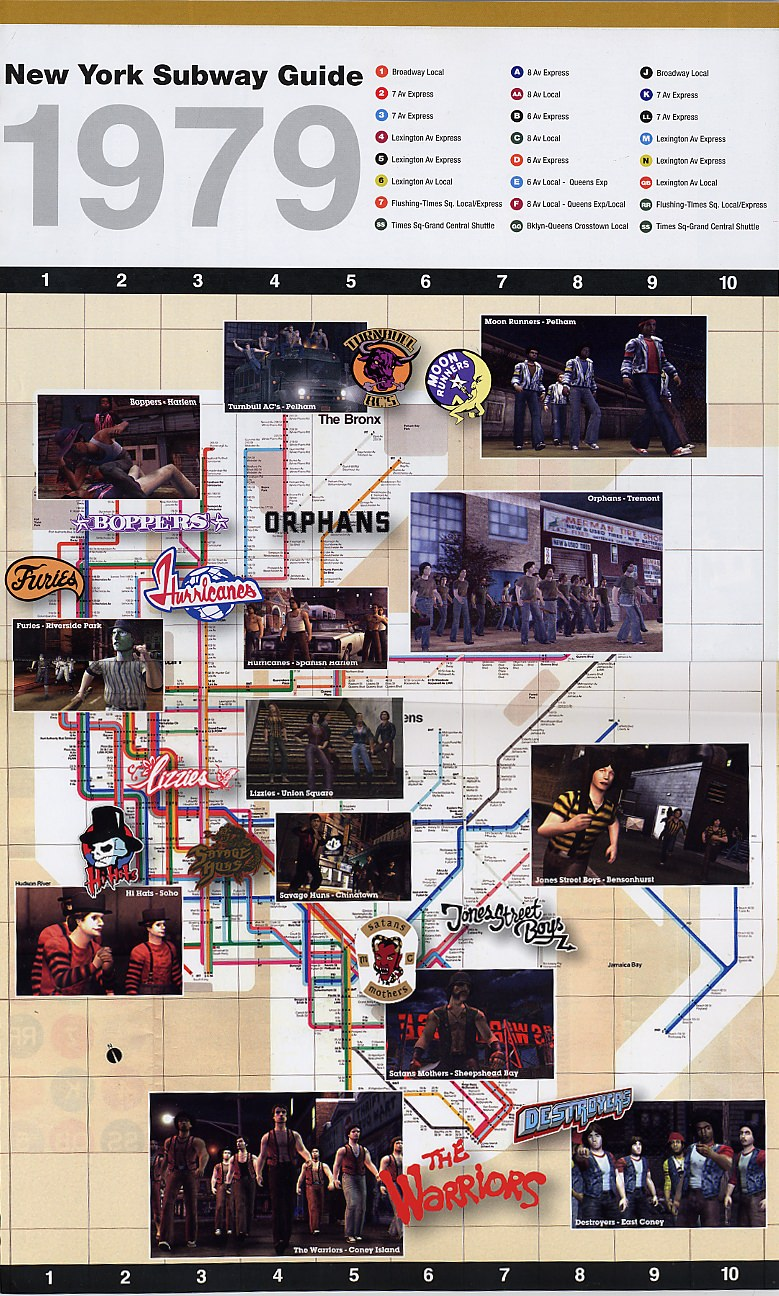 The Warriors Mapa de Bnadas